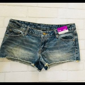 Mossimo Short Shorts Jean Distressed 🆕